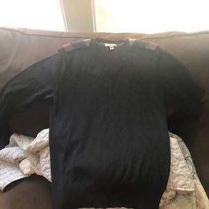 Burberry v neck cashmere sweater